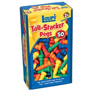 50 Tall Stacker Pegs Only
