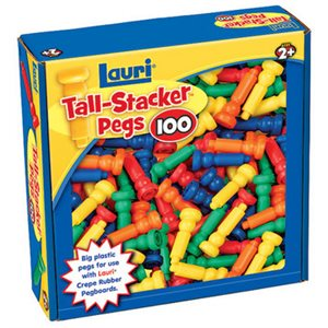 100 Tall Stacker Pegs Only