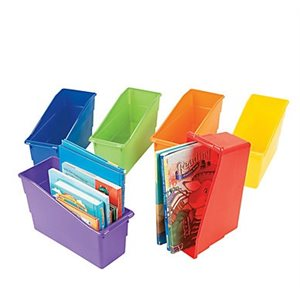 Plastic Bins 6 pack assorted colors