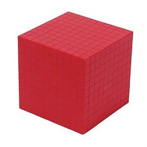 Base Ten Thousand Cube, Red, Single