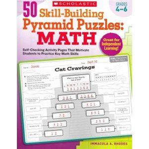 50 Skill-building Pyramid Puzzles: Math