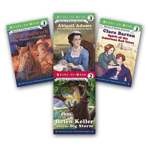 Ready-To-Read Nonfiction Stories of Famous Americans (10 Bk Set)