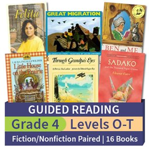 Guided Reading Collection: Grade 4 Fiction / Nonfiction Paired Studies (16 books)