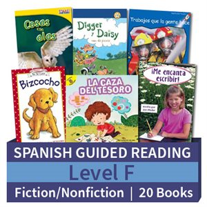 Guided Reading Collection: Spanish Level F Complete (20 Books)