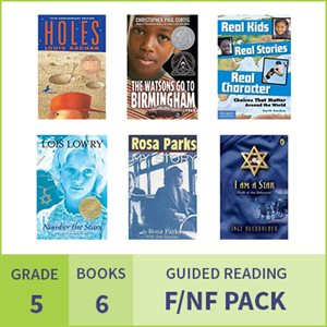 At Home Learning GR Fiction / Nonfiction Pack: Grade 5 (6 Books)