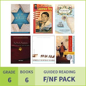 At Home Learning GR Fiction / Nonfiction Pack: Grade 6 (6 Books)