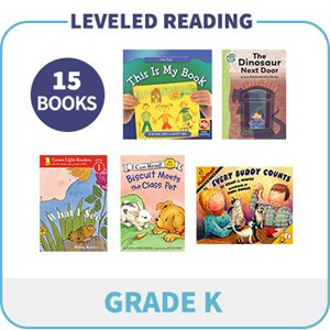 Kindergarten Leveled Readers - Targeted Levels  (15 Books)