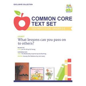 Common Core Text Set Teacher Guide:: Legacy