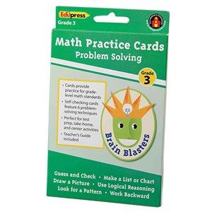 Brain Blasters Problem Solving Practice Cards, Grade 3